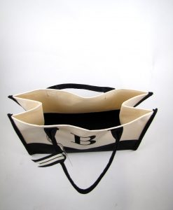 Initial Canvas Tote Bag