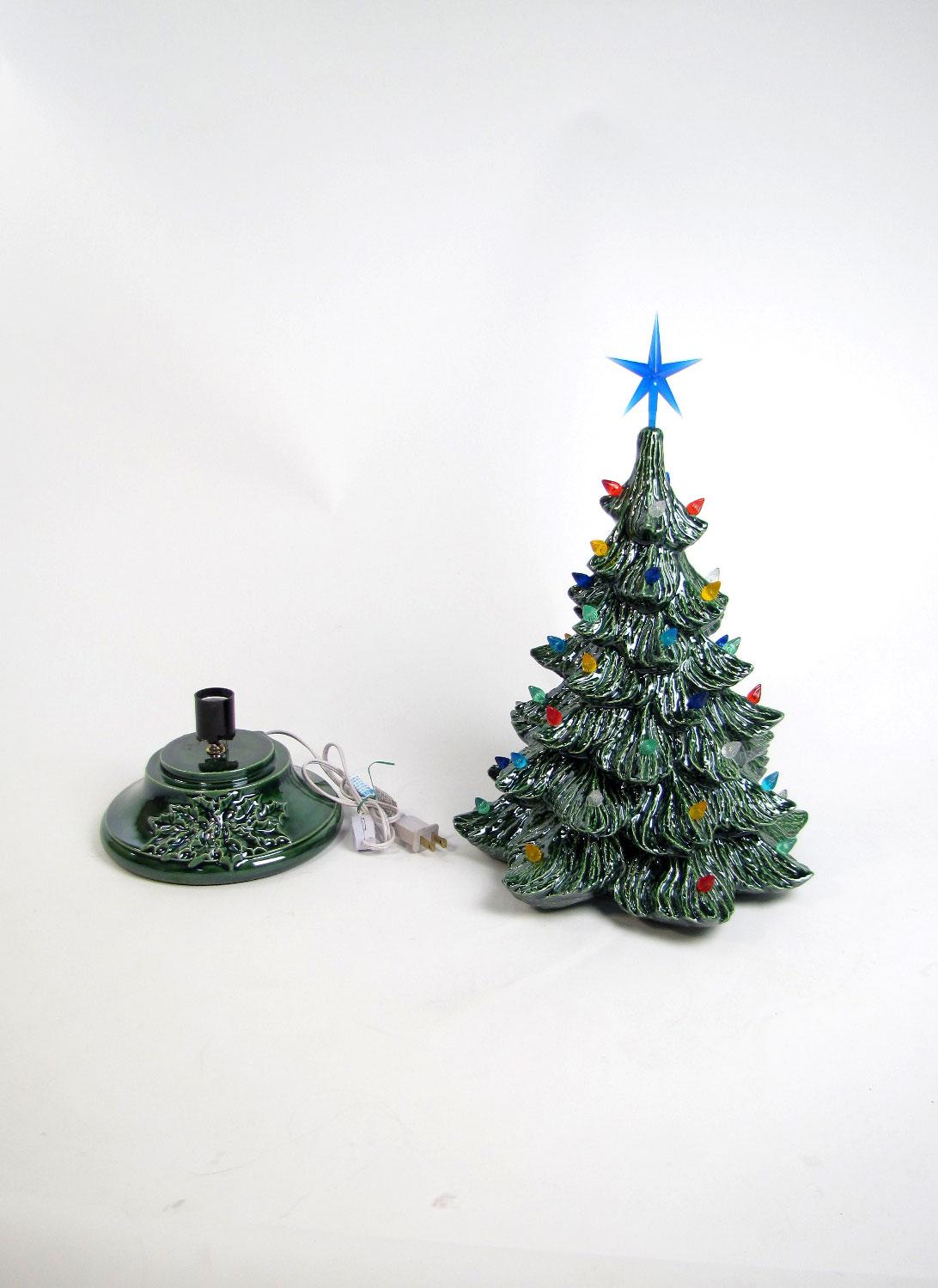 ceramic light up christmas tree - Ceramic Light Up Christmas Tree