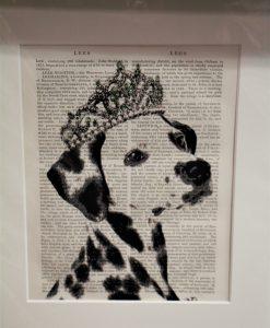 Dalmatian Tiara Print