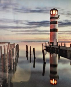Lighted lighthouse print