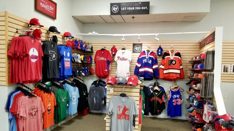 f2260f32552 ... t-shirts, sweatshirts, jerseys, and collectibles for fans of local  football, hockey, and baseball teams (including the Eagles, Flyers, and  Phillies).