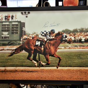 signed racing print