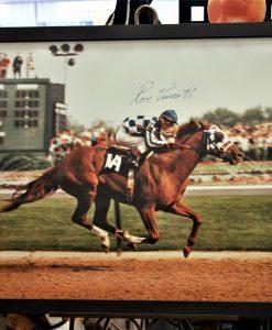 signed racing print