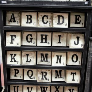 Scrabble Tile Wood Blocks